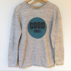 "ZARA ""Good Things"" Graphic Lightweight Sweatshirt"